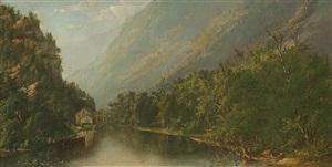hudson river landscape by ralph albert blakelock
