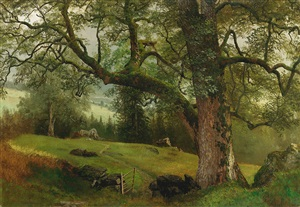 a trail through the trees by albert bierstadt