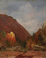 autumn in the catskills by jervis mcentee