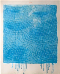 rain, from the weather series by david hockney
