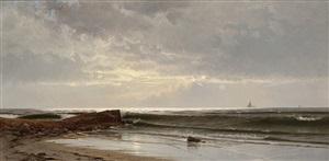 narragansett beach by alfred thompson bricher