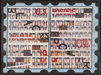 american people series #19: u. s. postage stamp commemorating the advent of black power by faith ringgold