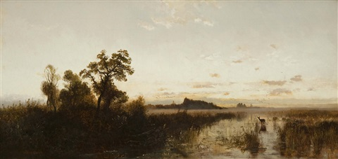 sunrise on the platte by albert bierstadt