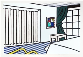 bedroom (from the interior series) by roy lichtenstein