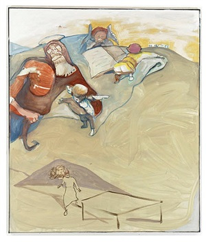 auferstehung und leerer tisch by siegfried anzinger