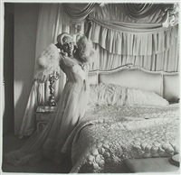 mae west in her bedroom , santa monica, california by diane arbus