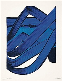 sérigraphie n°18 by pierre soulages