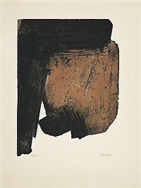 eau-forte xiii by pierre soulages