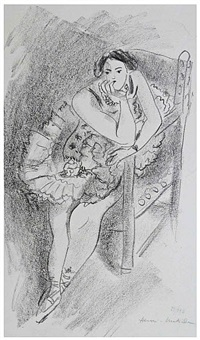 dancer on a wooden armchair / danseuse au fauteuil en bois by henri matisse