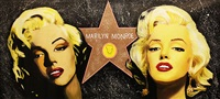 double marilyn - the hollywood star by steve kaufman