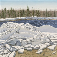 ice at walker brook by neil welliver