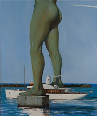 la tremebunda at the port of casabianca by julio larraz