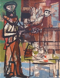 bird and cage by jankel adler