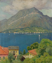 view of lake como by charles warren eaton