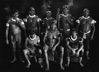 group portrait of kamayura shamans. upper xingu, mato grosso, brazil by sebastião salgado