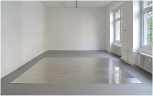 aluminum square nine by carl andre