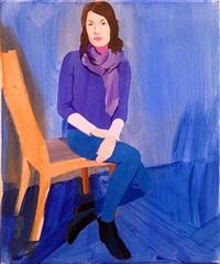 isca blue seated by sebastian blanck