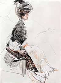 madame singer by paul césar helleu