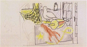 untitled (lobster and seagull) by roy lichtenstein
