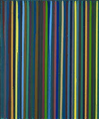 poured lines: deep green by ian davenport