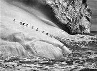 chinstrap penguins on an iceberg, between zavodovski and visokoi islands. south sandwich islands. by sebastião salgado