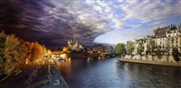day to night, pont de la tournelle, paris by stephen wilkes