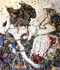 prometheo, after titian by vik muniz