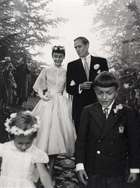 audrey hepburn & mel ferrer wedding by bert stern