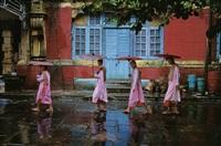 procession of nuns, rangoon, burma by steve mccurry