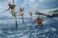 fishermen, weligama, south coast, sri lanka by steve mccurry