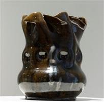 gunmetal vase by george edgar ohr