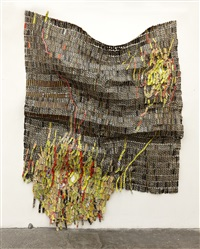flame of/in the forest by el anatsui