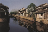 ancient town, xitang by wang yihua