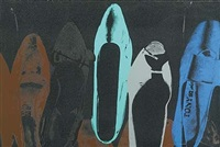 shoes with diamond dust (257) by andy warhol