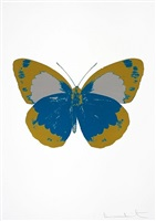 the souls ii -turquoise/oriental gold/silver gloss by damien hirst