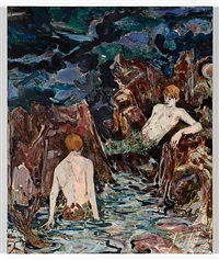 untitled (two mermen) or (promised gift to the first homosexual merman who claims this) by hernan bas