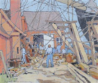 at the dry dock, gloucester, ma by eleanor parke custis