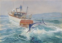 landing marlin by john whorf