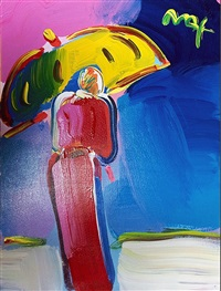 sage with umbrella by peter max