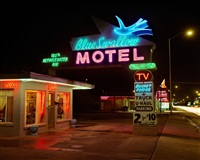 blue swallow motel, highway 66, tucumcari, new mexico, july by steve fitch