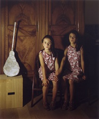 portrait of two sisters by clegg & guttman