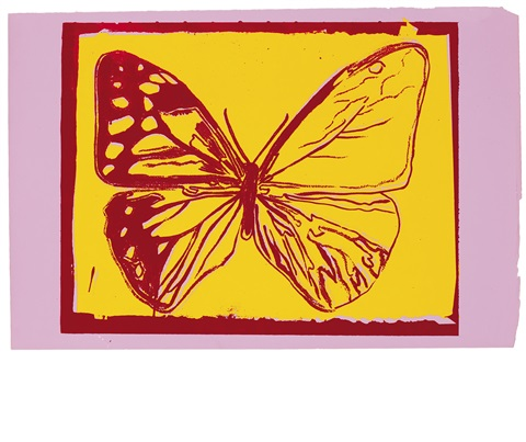 butterfly (from vanishing animals) by andy warhol