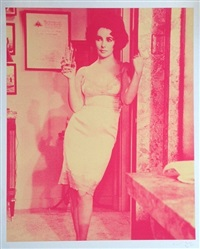 liz taylor: cat on a hot tin roof (fuscia) by russell young