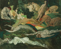figures in a landscape by arthur bowen davies