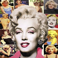 pop marilyn collage - white hair by steve kaufman