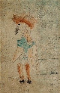 gefesselter erdgeist (gnome enchaîné) by paul klee