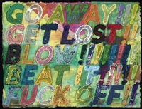 go away! by mel bochner