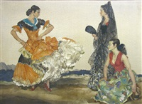the dance of a thousand flounces (ladies of almeria) by william russell flint