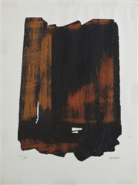 eau-forte n° xvi	 by pierre soulages