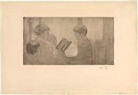 mrs. cassatt reading to her grandchildren (no. 1) by mary cassatt
